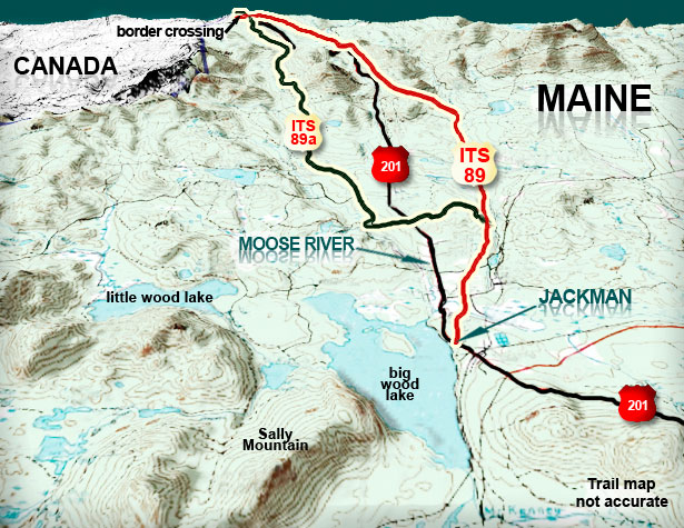40 mile trail loop map