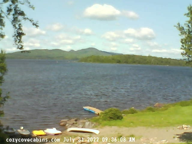 Webcam Cozy Cove Cabins on Big Wood Lake